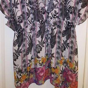 Lane Bryant Tops - Lane Bryant Top Floral Batwing Sleeves